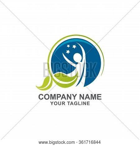 Healthy Life Logo Template Vector Icon,healt Human - Vector Logo Concept Illustration In Flat Style