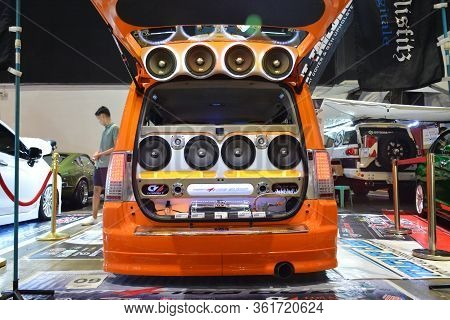 Pasay, Ph - July 28: Customized Sound Speaker System At Bumper To Bumper Prime Car Show On July 28,