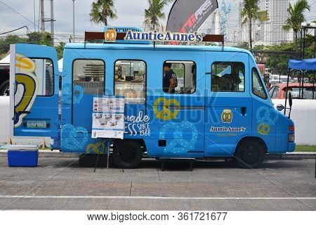 Pasay, Ph - July 28: Auntie Anne's Food Mobile At Bumper To Bumper Prime Car Show On July 28, 2019 I