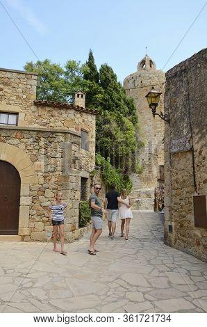 Cobbled Street In Medieval Spain Village