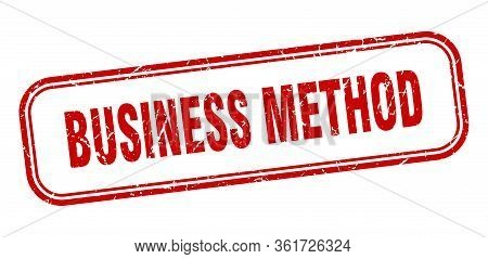 Business Method Stamp. Business Method Square Grunge Red Sign