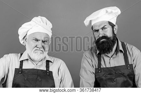 Tired Of Cooking. Masters Of Kitchen. Who Is The Best. Father And Son Cooking Together. Commercial K