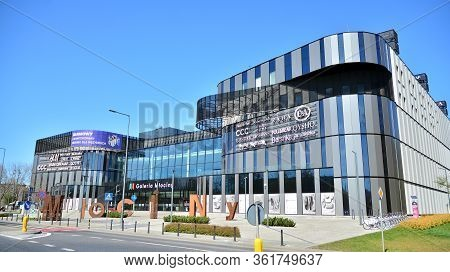 Warsaw, Poland. 17 April 2020. Galeria Mlociny Shopping Centre In Warsaw. Shopping Mall Completely V