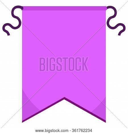 Isolated Purple Pennant. Banner Pennant - Vector Illustration