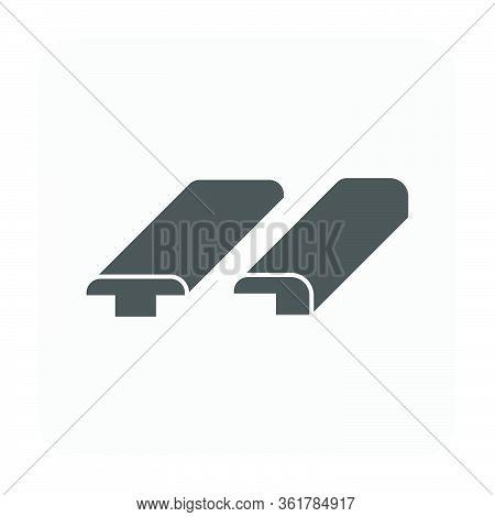 Wood Floor Cornice Vector Icon Design For Interior Architectural Concept Design.