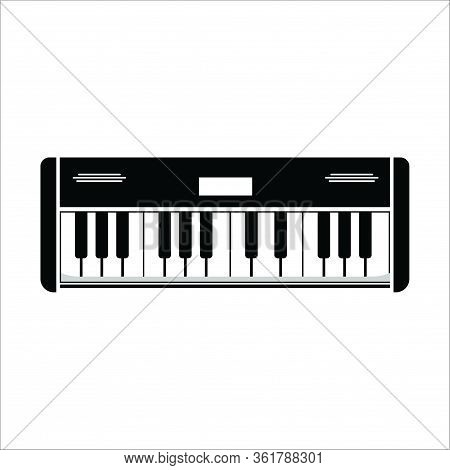 Piano Icon In Trendy Design Style. Piano Icon Isolated On White Background. Piano Vector Icon Simple