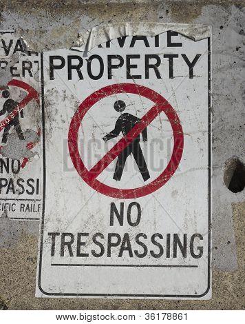 No trespassing background