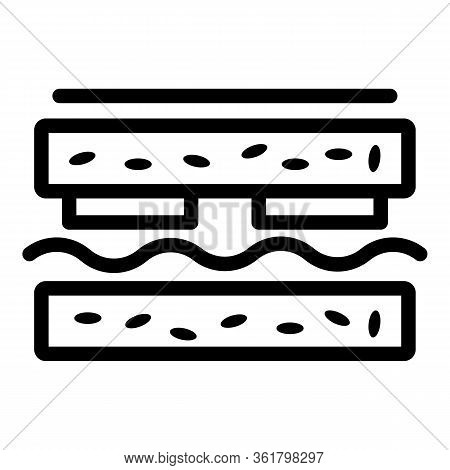 Sandwich Lunch Icon. Outline Sandwich Lunch Vector Icon For Web Design Isolated On White Background