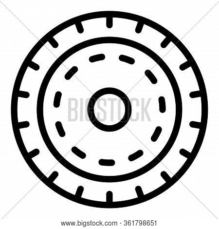Float Reel Icon. Outline Float Reel Vector Icon For Web Design Isolated On White Background