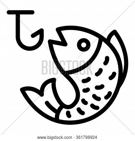 Fish Lure Icon. Outline Fish Lure Vector Icon For Web Design Isolated On White Background