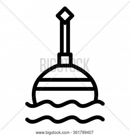 Floating Bobber Icon. Outline Floating Bobber Vector Icon For Web Design Isolated On White Backgroun