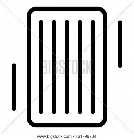 Floating Air Mattress Icon. Outline Floating Air Mattress Vector Icon For Web Design Isolated On Whi