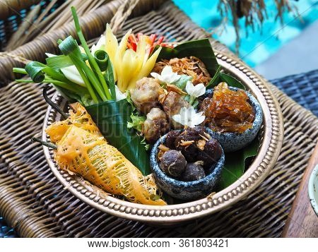 Close Up Complementary Food Of Kao Chae, Royal Thai Cuisine Food.