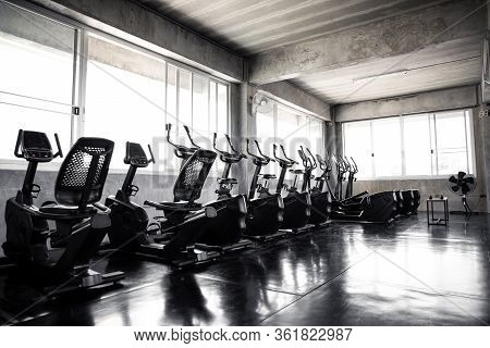 Cardio Machine In Modern Fitness Equipment.