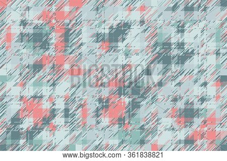 Modern Glitch Background. Color Geometric Abstract Pattern Vector. Damage Lines Glitches Effect Wall