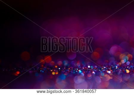 Festive Twinkle Glitters Background, Abstract Glowing Backdrop With Circles, Modern Design Overlay W