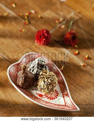Delicious Chocolate Hand Made Pralines- Sweet Food