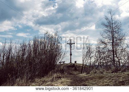 Paradajs Hill, Stiavnica Mountains, Slovak Republic. Religious Place. Travel Destination.