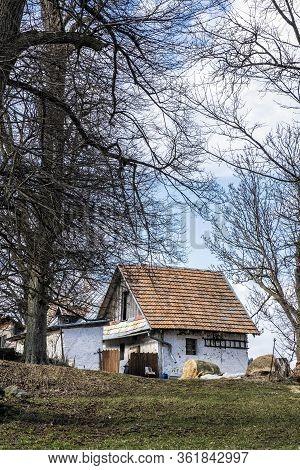 Rural Homestead In Stiavnica Mountains, Slovak Republic. Travel Destination.