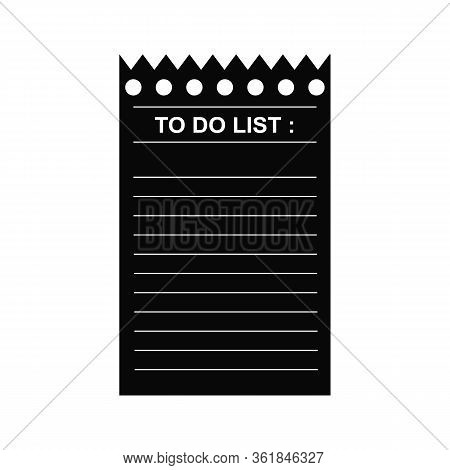 To Do List Concept. Sheet With The Plan And Goals. Strategic Plan Of Paper With Ragged Edge.