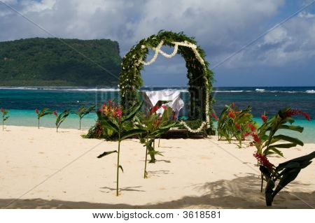 White Wedding In The Sand