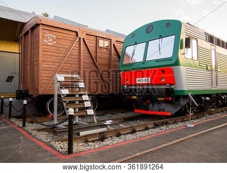 Voronezh, Russia - August 29, 2019: A Fragment Of The Exposition Of A Retro Exhibition Of Railway Eq
