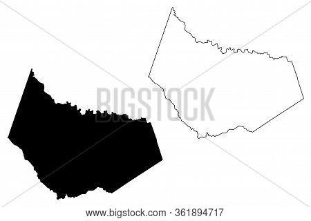 Barrow County, Georgia (u.s. County, United States Of America,usa, U.s., Us) Map Vector Illustration