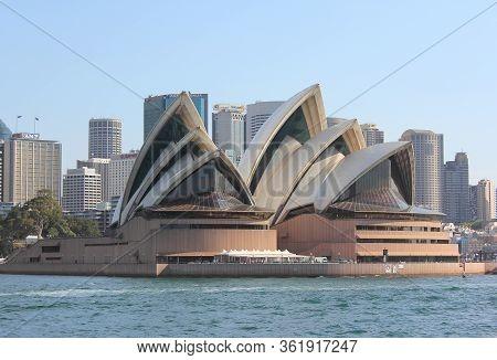 Sydney, Australia - September 17: Sydney Opera House View From The Water. September 17, 2011 In Sydn