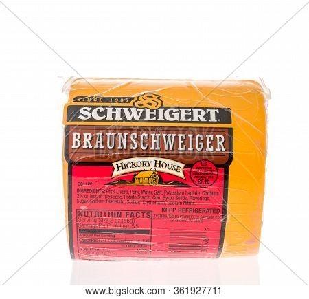 Winneconne,  Wi - 17 April 2020:  A Package Of Schweigert Hickory House  Braunschweiger Liver Sausag