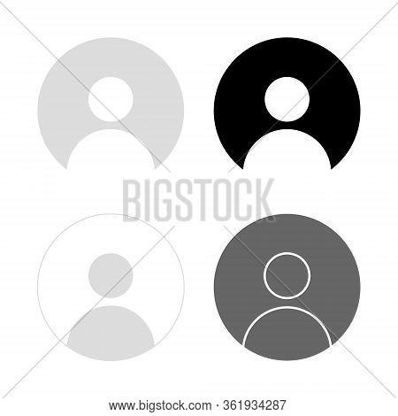 Default Avatar Icon Set, User Profile Image Vector