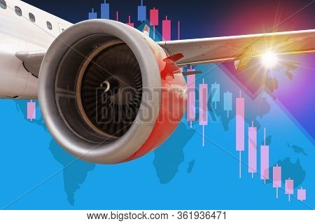 3d Illustration Concept Of Aviation And Travel Industry Business In Crisis With Commercial Airline I