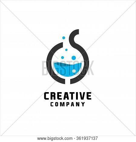 Letter C S Lab Creative Logo. Modern Design Illustration Icon - Vector