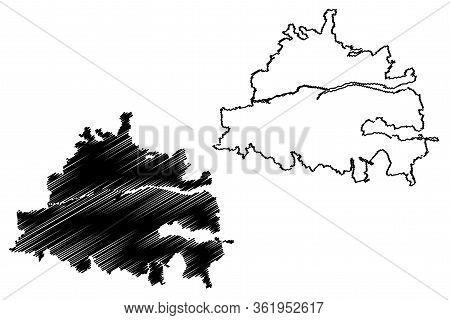 Cork City (republic Of Ireland, Munster) Map Vector Illustration, Scribble Sketch City Of Cork Map