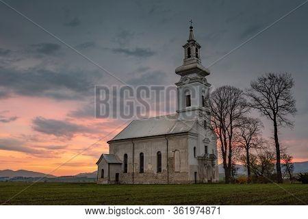 Church In Pripovce Village In Turiec Region, Slovakia.