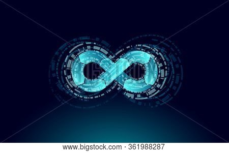 Devops Software Development Operations Infinity Symbol. Programmer Administration System Life Cycle