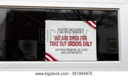 To Protect Our Customers, Employees And Community We Are Open For Take Out Orders Only Sign In Windo