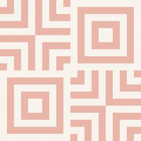 Modern Linear Geometric Seamless Pattern. Simple Abstract Geo Texture With Lines, Squares, Repeat Ti