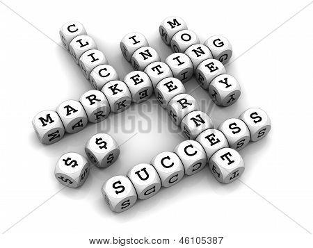 Internet Marketing - Dice Crossword game