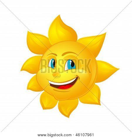 Beautiful Cartoon Sun