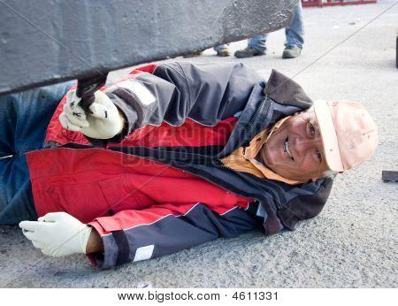 Happy Working Man.