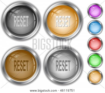 Reset. Raster internet buttons. Vector version is in portfolio.