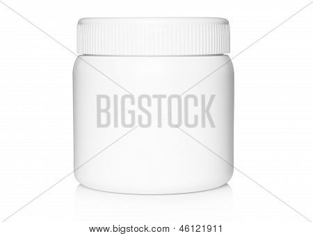White medical container