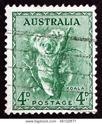 Postage Stamp Australia 1942 Koala, Phascolarctos Cinereus