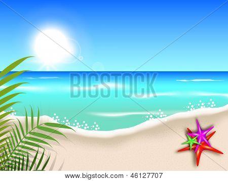 Evening summer background at seaside..