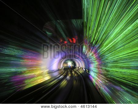 Light Show In The Huangpu Tunnel Shanghai 1