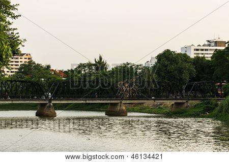 Iron Bridge In Chiangmai