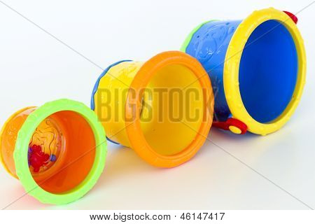 Stackable Cup Game on it's side