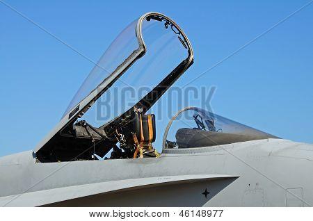 F-18 hornet fighter plane canopy