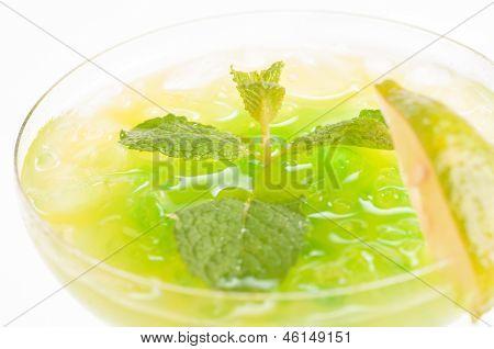 Citrus Paradise Cocktail Top View Close Up