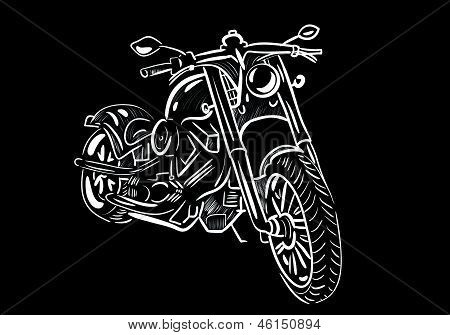 bike, motorcycle, transport, sketch, vector, white. This is file of EPS10 format. poster